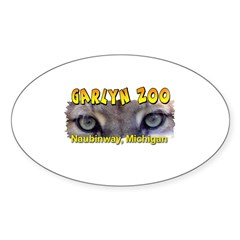 Animal Eyes Oval Decal