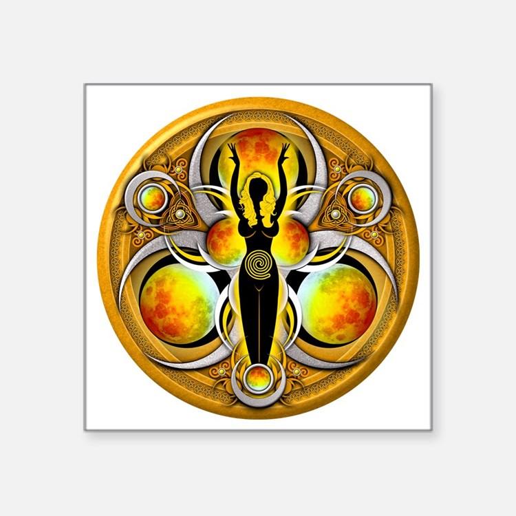 "Goddess Design - 004 - Air Square Sticker 3"" x 3"""