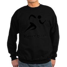 Runner Dude Black Sweatshirt