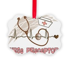 Nurse Preceptor Salmon Brown Ornament