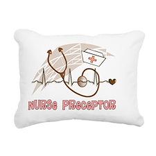 Nurse Preceptor Salmon B Rectangular Canvas Pillow