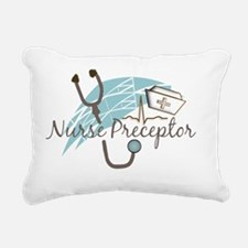 nurse preptor BLUE BROWN Rectangular Canvas Pillow