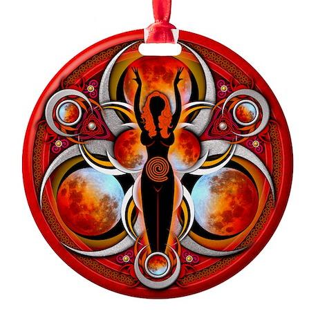 Goddess Design - 003 - Fire Round Ornament