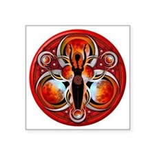 "Goddess Design - 003 - Fire Square Sticker 3"" x 3"""