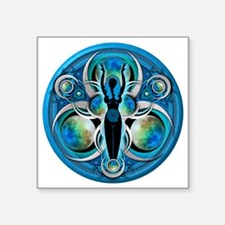 "Goddess Design - 005 - Wate Square Sticker 3"" x 3"""