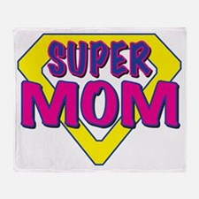 super MOM-outline Throw Blanket