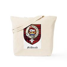 McDonald Clan Crest Tartan Tote Bag