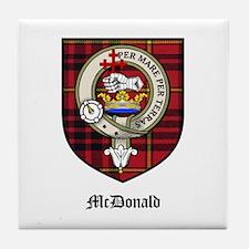 McDonald Clan Crest Tartan Tile Coaster