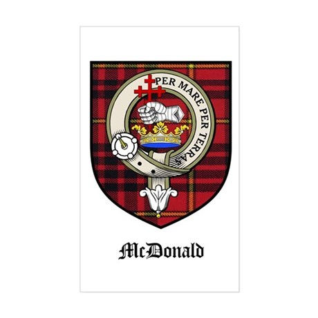 McDonald Clan Crest Tartan Rectangle Sticker