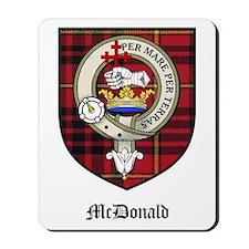 McDonald Clan Crest Tartan Mousepad