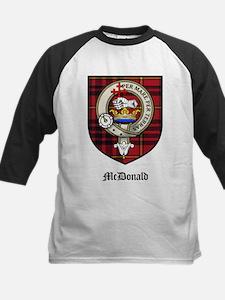 McDonald Clan Crest Tartan Kids Baseball Jersey