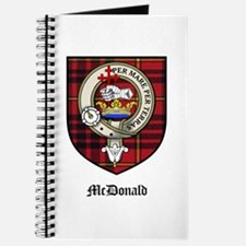 McDonald Clan Crest Tartan Journal