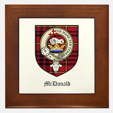 McDonald Clan Crest Tartan Framed Tile