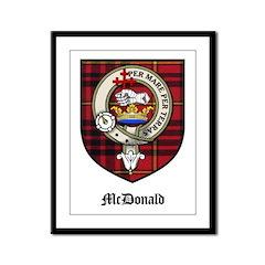 McDonald Clan Crest Tartan Framed Panel Print