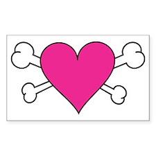 Skull Heart Decal