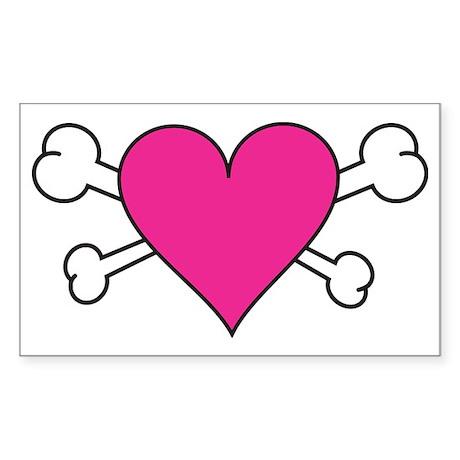 Skull Heart Sticker (Rectangle)