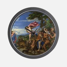 Bacchus and Ariadne Wall Clock