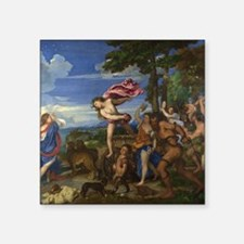 """Bacchus and Ariadne Square Sticker 3"""" x 3"""""""
