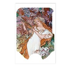 MUCHA SLIDER_ Spring Postcards (Package of 8)