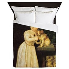 Portrait of Clarissa Strozzi Queen Duvet