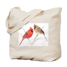Northern Cardinal male & fema Tote Bag