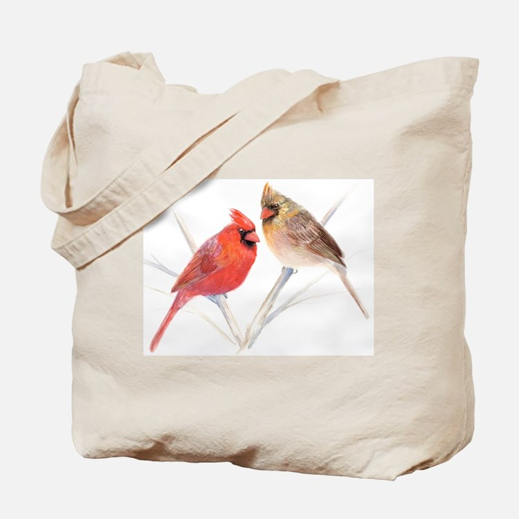 Northern Cardinal male & fema Tote Bag