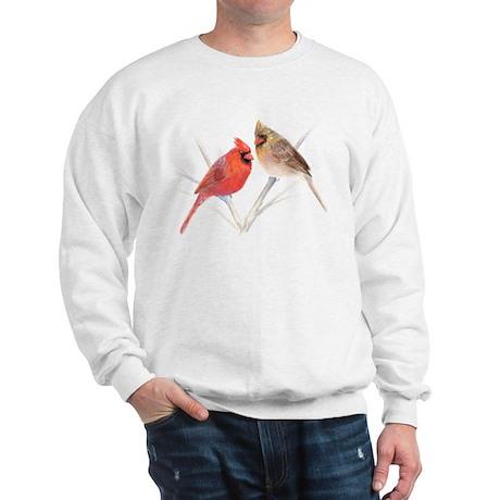 Northern Cardinal male & fema Sweatshirt