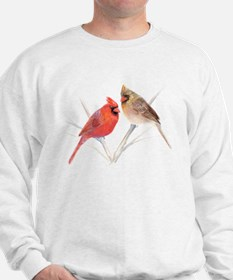 Northern Cardinal male & fema Sweatshirt