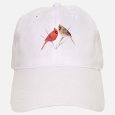 Northern Cardinal male & fema Baseball Baseball Cap