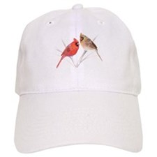 Northern Cardinal male & fema Baseball Cap