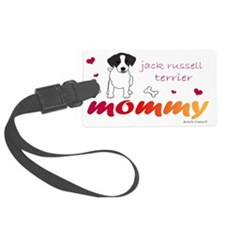 JackRussellBlkMommy Luggage Tag