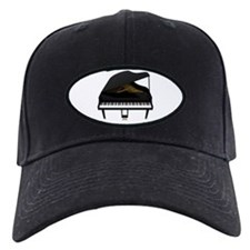Black Grand Piano Baseball Hat