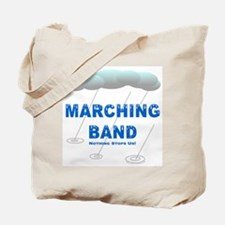 Marching Band in the Rain Tote Bag