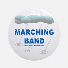 Marching Band in the Rain Ornament (Round)