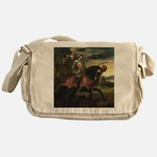 Equestrian Portrait of Charles V Messenger Bag