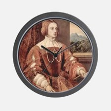 Portrait of Isabella of Portugal Wall Clock