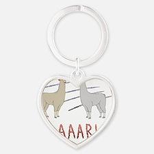Llamas-D1-WhiteApparel Heart Keychain