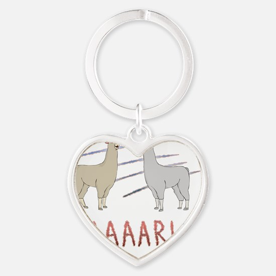 Llamas-D1-TravelMug Heart Keychain