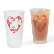 missing_puzzle_piece_from_heart Drinking Glass