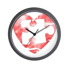missing_puzzle_piece_from_heart Wall Clock