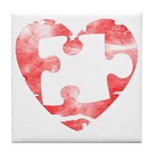missing_puzzle_piece_from_heart Tile Coaster