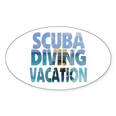 Scuba Diving Vacation Oval Sticker