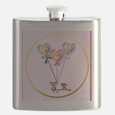 MOM Hearts n Kids circle Flask