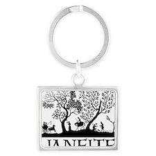 Janeite Jane Austen Fan Design Landscape Keychain