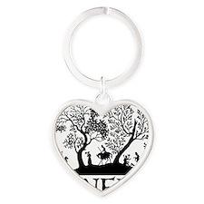 Janeite Jane Austen Fan Design Heart Keychain