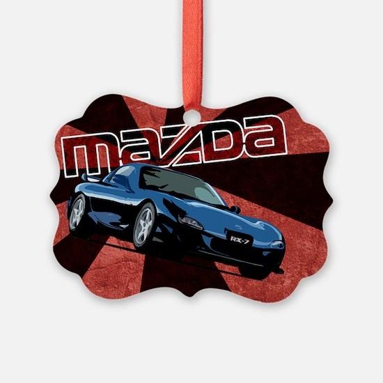 MazdaRX7 Rectangular Ornament