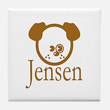 Jensen Puppy Tile Coaster