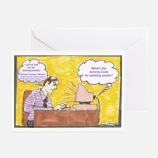 Deleting Emails Greeting Cards (Pk of 10)