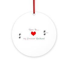 Vallhund Love Ornament (Round)
