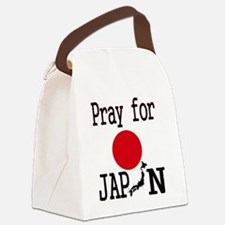 Pray for Japan Canvas Lunch Bag